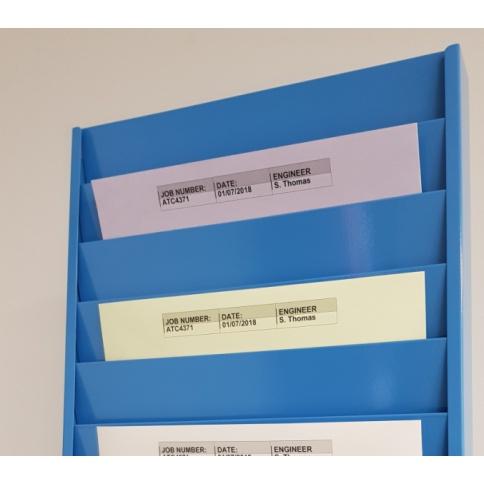A4 Landscape Job Card Rack