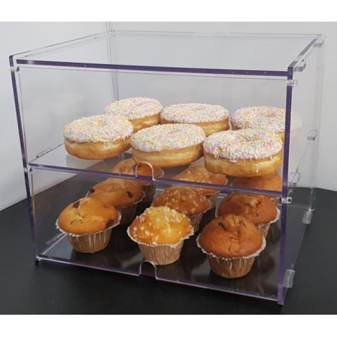 Medium Bakery Display Case - 2 Tiers