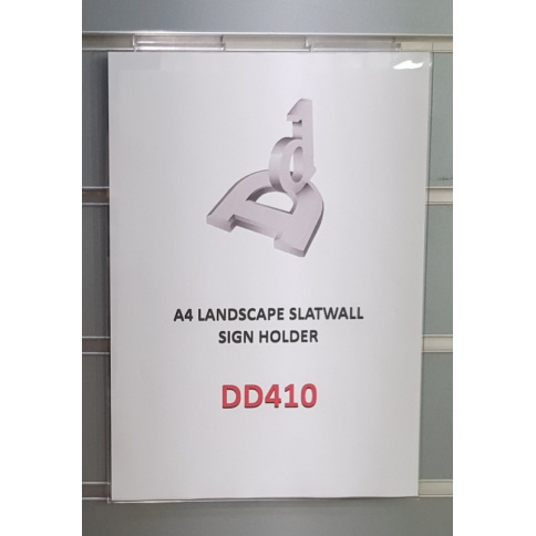 A4 PORTRAIT SLATWALL SIGN HOLDER