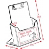 DD120  A4 Brochure Holder dimensions