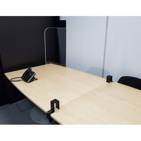 Perspex Desk & Table Divider Screens With Clamps