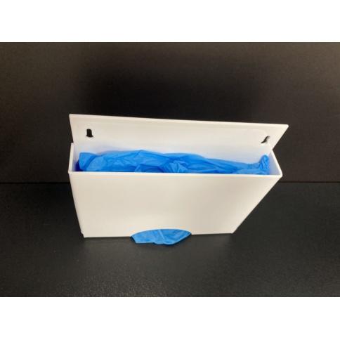 Disposable Glove Dispenser In White Acrylic