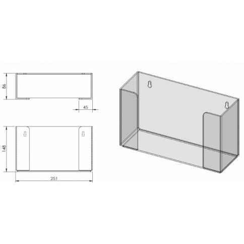Glove Box Holder Dimensions