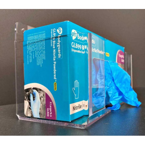 Disposable Glove Box Holder In Clear Acrylic