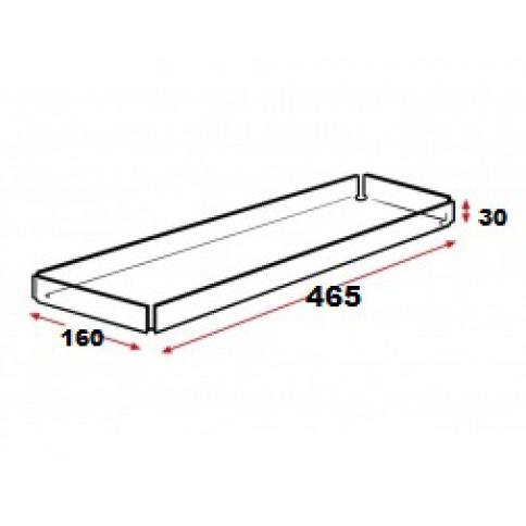 Acrylic Tray 465mm x 160mm x 30mm