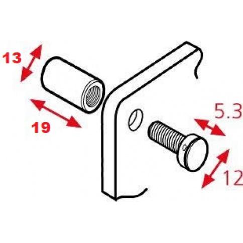 Sign Connectors 13mm Diameter x 19mm Projection