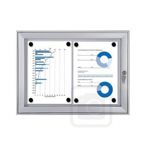 2 x A4 Lockable Noticeboard