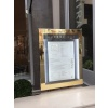 Brass Menu Display Case With LED Lighting