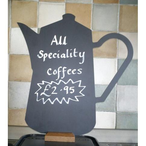Coffee Pot Shaped Chalkboard