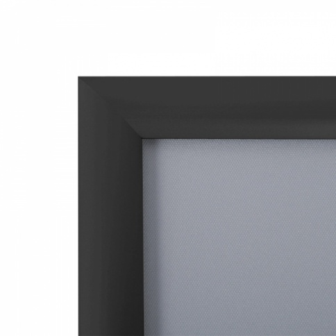 Black snap frame corner