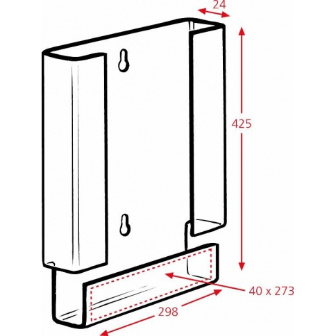A3 Brochure Holder Dimensions