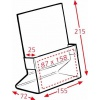A5 Brochure Holder Dimensions