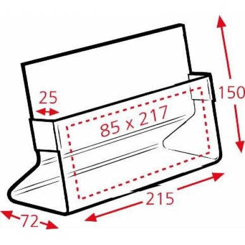 Brochure Holder Dimensions