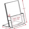 A4 Portrait Brochure Holder with Card Holder Dimensions