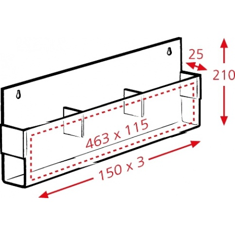 Brochure Holder Dimensions
