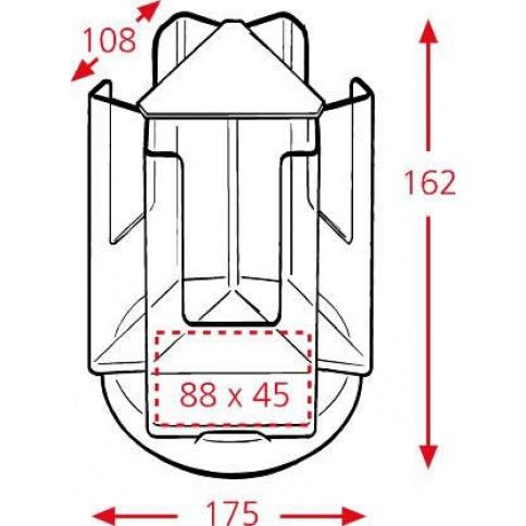 3 x 1/3 A4 Pocket Revolving Counter Top Leaflet Holder