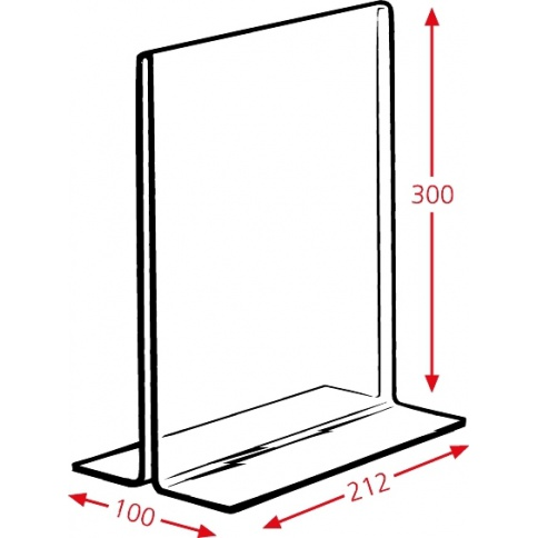 A4 Menu Holder Dimensions