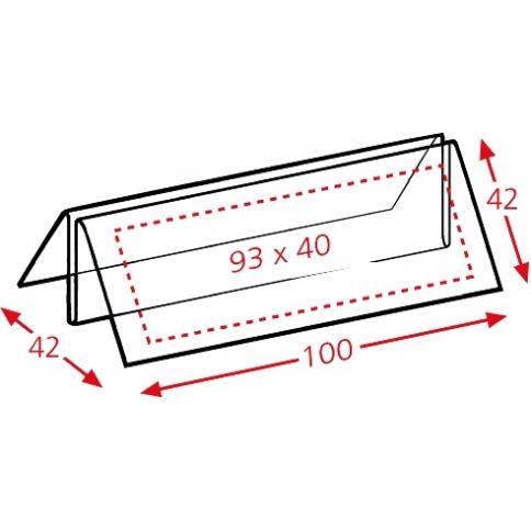 Menu Holder dimensions