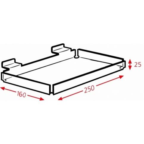DD443 Slatwall Display Tray