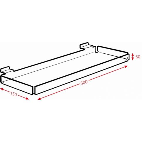 Slatwall Display Tray DD444
