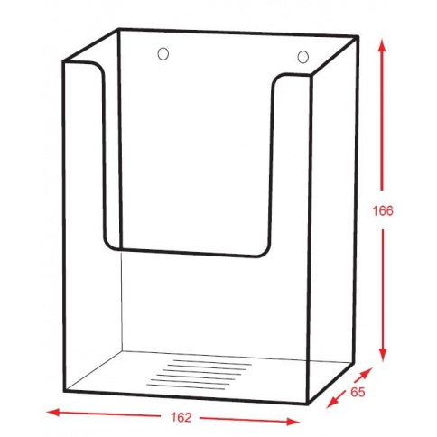 DD116/X Extra Capacity Brochure Holder Dimensions