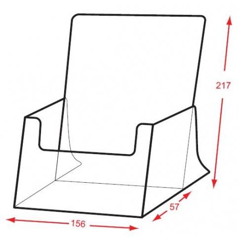 A5 Brochure Holder DD121X Dimensions