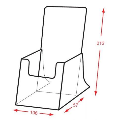 1/3rd A4 Brochure Holder DD122X Dimensions