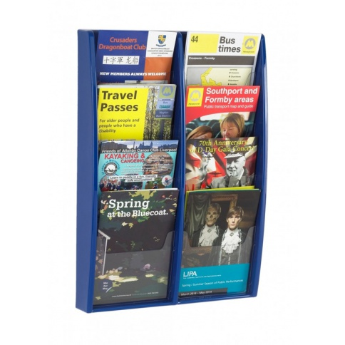 Blue A5 Brochure Holder