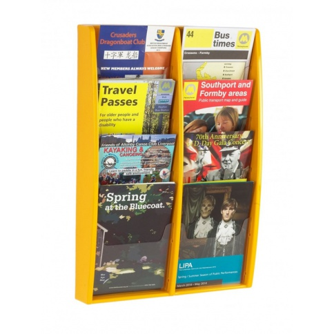 Yellow A5 Brochure Holder
