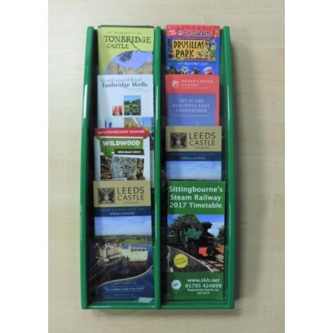 Green Brochure Holder 8 x DL