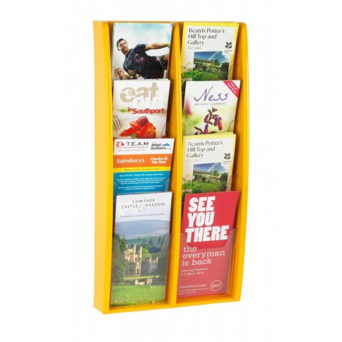 Yellow 1/3rd A4 Brochure Holder