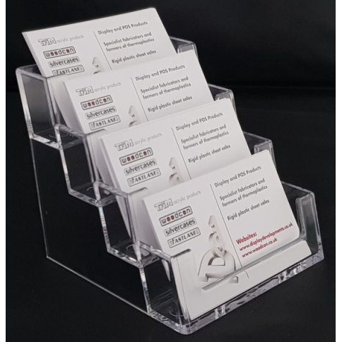 4 Tier Business Card Holder / Dispenser