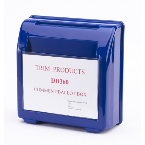 Blue Suggestion Box DD360BL