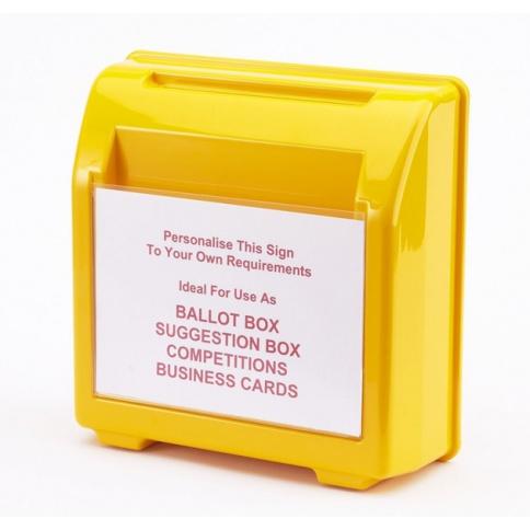 Yellow Suggestion Box DD360YW