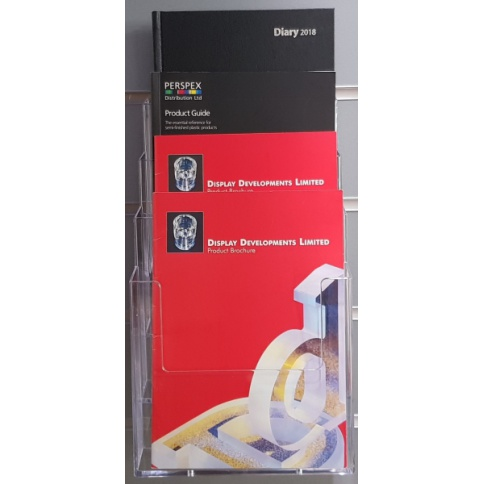 A5 Portrait 4 Tier Slatwall Brochure Holder