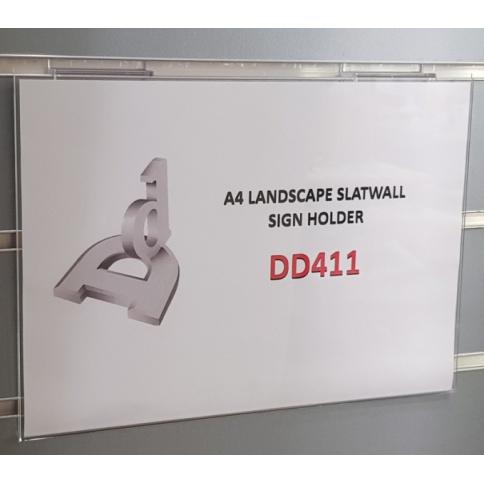 Slatwall Sign Holder