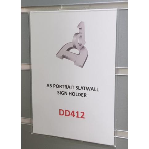 A5 Portrait Slatwall Sign Holder