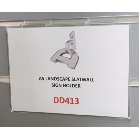 A5 Landscape Slatwall Sign Holder