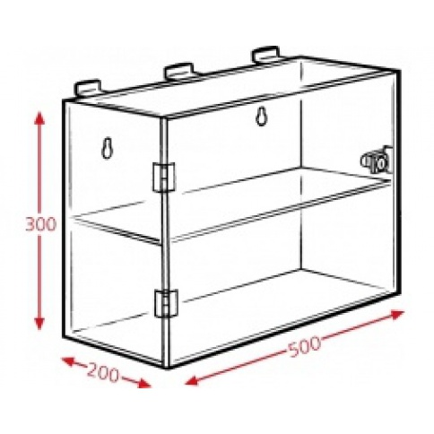 Slatwall Large Two Compartment Display