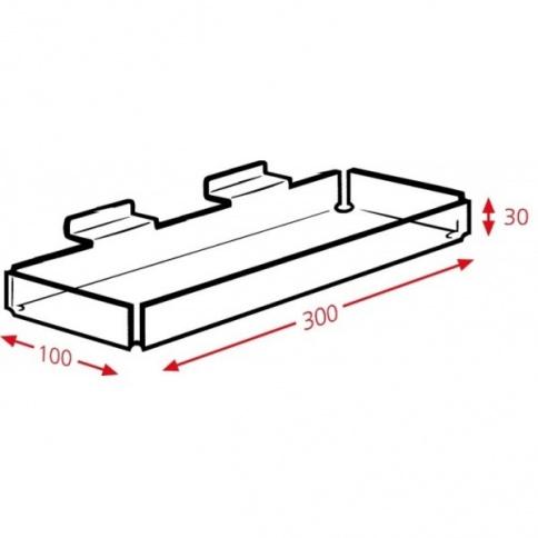 DD441 Slatwall Tray