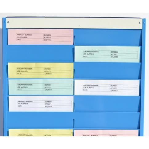 A4 Job Card Rack - 28 Pockets