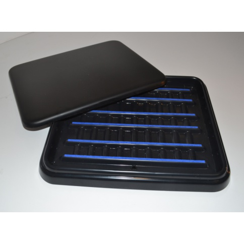 Slide Staining Tray 30 Capacity - Black Lid
