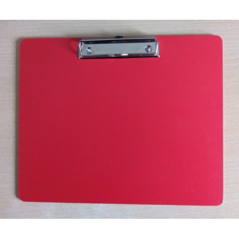 A4 Landscape Red Clipboard