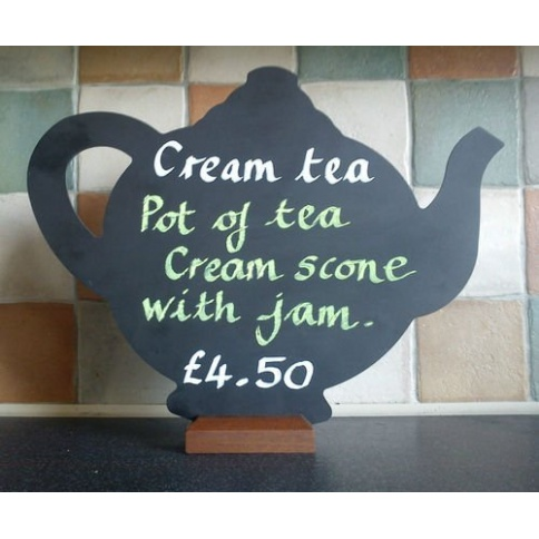 Tea Pot Shaped Chalkboard
