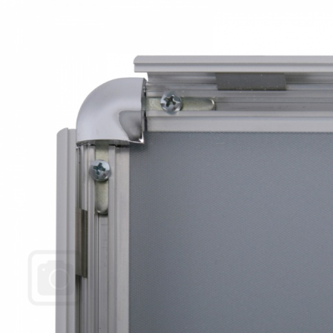 Aluminium Snap Frames with Rounded Chrome Corners