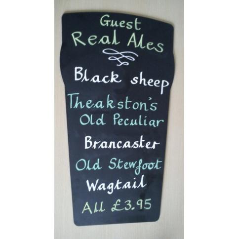 Beer Glass Shaped Chalkboard