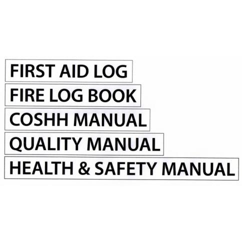 Safety Manual Holder Labels