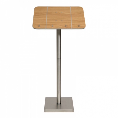 Menu Stand With Stainless Steel Pedestal