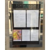 A2 mirror polished stainless steel menu case