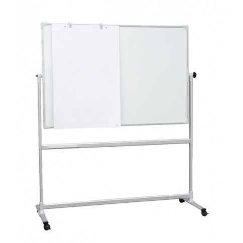 Double-Sided Magnetic Whiteboard on Mobile Stand